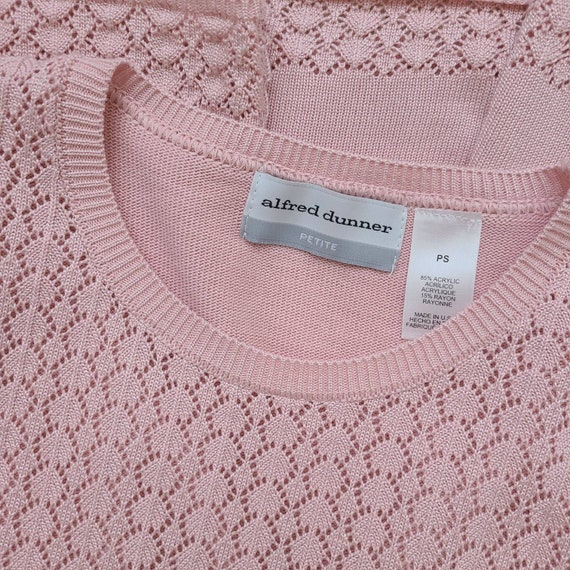 Vintage 90s dusty pink knit top - image 10