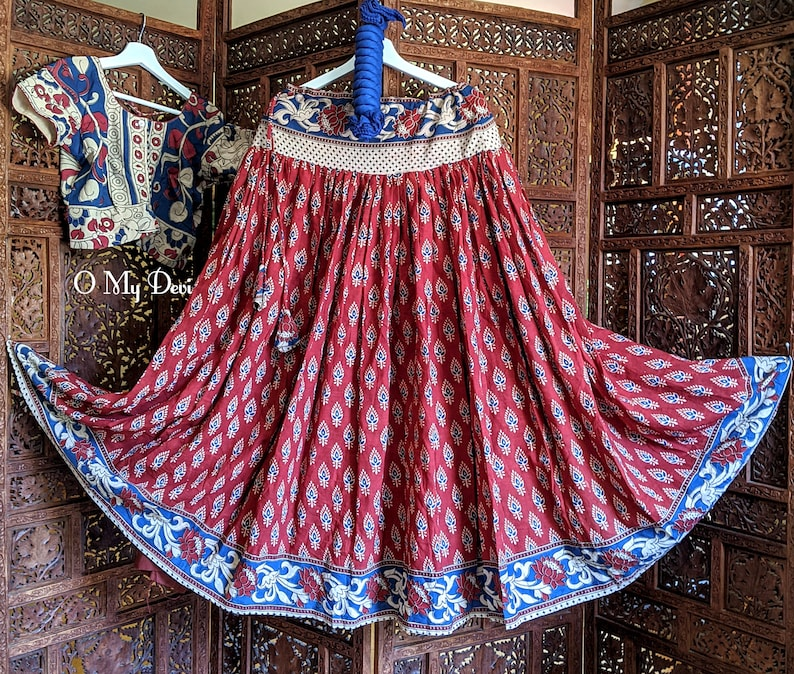 Red Temple Skirt Set
