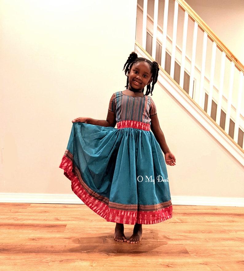 Blue Rainbow Dress