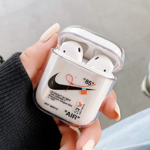 un millón occidental Conflicto  New Nike / Off-White Inspired AirPods 1&2 Case Cover Clear   Etsy