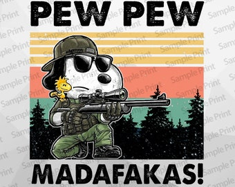 Cute snoopy pewpew shot gun snoopy madafakas png design download pewpew snoopy png