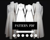 Victorian inspired daily dress Edwardian dress pattern Victorian dress pattern Epochal dress Housemaid cosplay PDF Sewing Pattern
