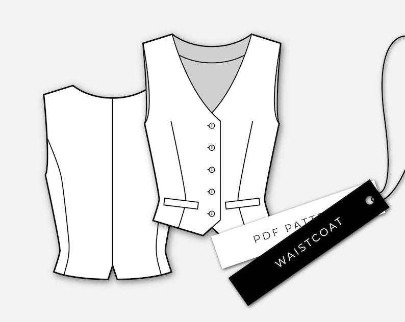 Steampunk Sewing Patterns- Dresses, Coats, Plus Sizes, Men's Patterns     Waistcoat Pattern | Womens  Waistcoat Pattern | Tailored Buttoned Vest Pattern | Female Vest PDF Sewing Pattern | Patrón Chaleco Mujer $10.07 AT vintagedancer.com