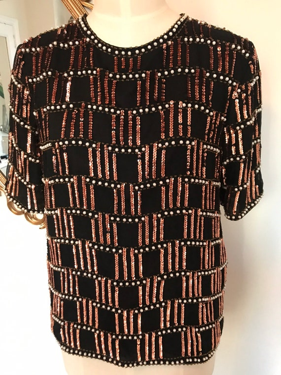 Rare Vintage Beaded Blouse