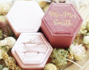 Monogram Ring Box | Wedding Ring Box | Ring Bearer | Personalized Velvet Ring Box | Engagement ring box | Custom Ring Box | Mrs. Ring Box