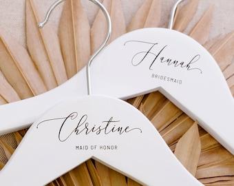 Custom Bridal Wedding Hanger | Personalized Wedding Dress Hanger for Her | Bridesmaid Hanger| Name Engraved Customized Wedding Gifts