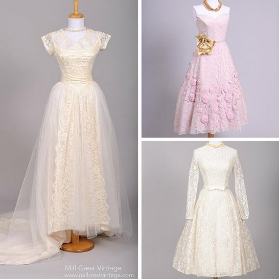 1940's Vintage Wedding Dress