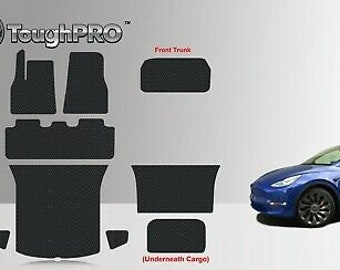 Toughpro Tesla Model X 7 Seater 2nd Row Mat Set Built From 8//22//17 And After 1pc