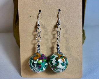 Lovely polymer clay bauble earrings.