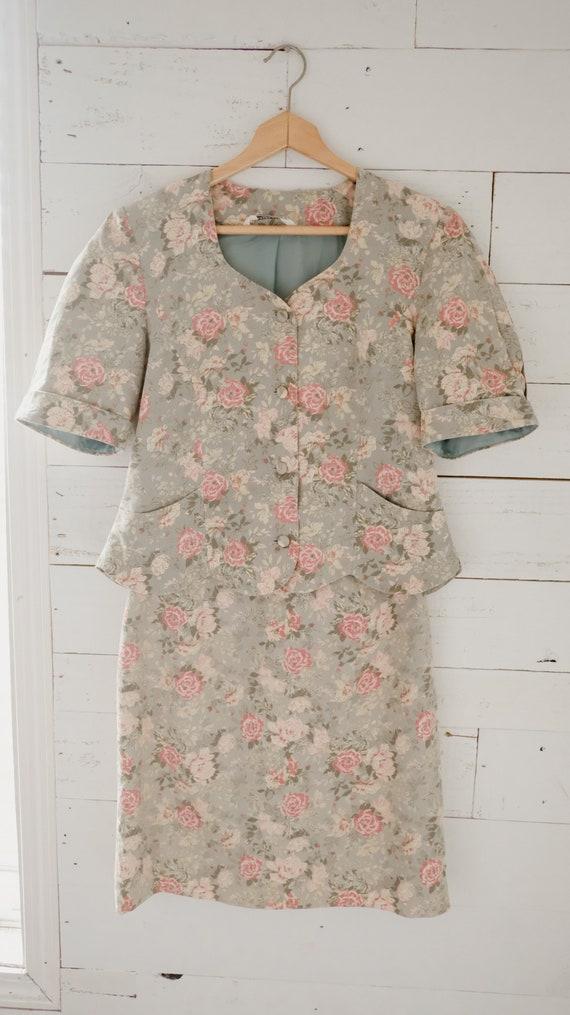 vintage 1980s darling laura ashley dress tulip puf