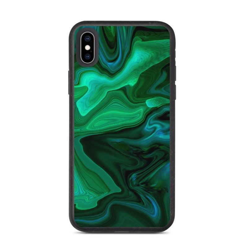 Eco-friendly 100/% Biodegradable IPhone Case Compostable Cover IPhone SE 2020 6s 7 8 Plus X XS XR 11 12 Mini Pro Max Green Marbled Pattern