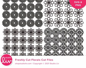 Freshly Cut Florals Cut Files   SVG + PNG included   Paper + Hybrid Scrapbooking   Cutting Machine Files