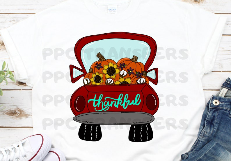 Sublimation Transfer  Thankful Truck Transfer  Fall Truck image 0