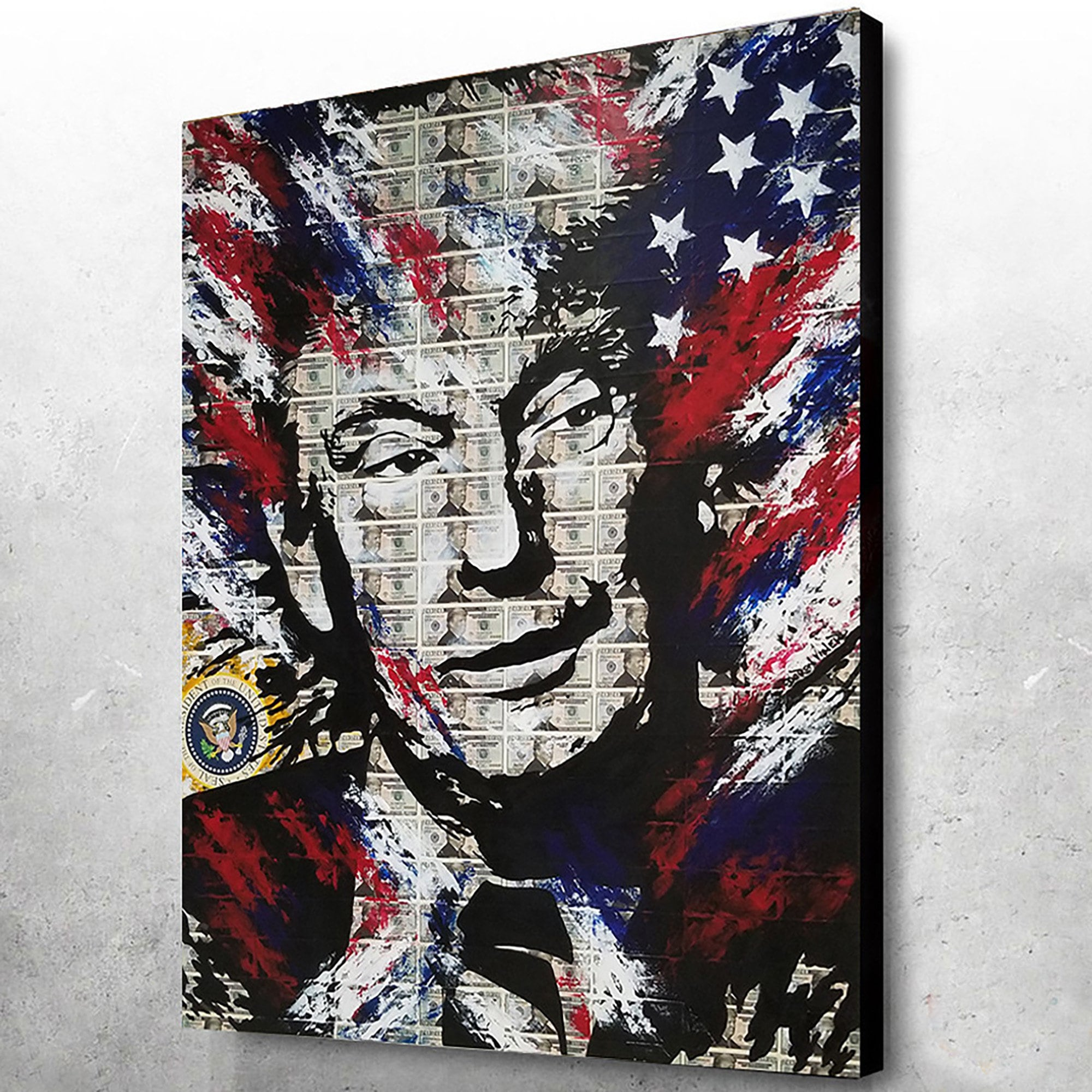 Andy Warhol Style Donald Trump Premium Canvas