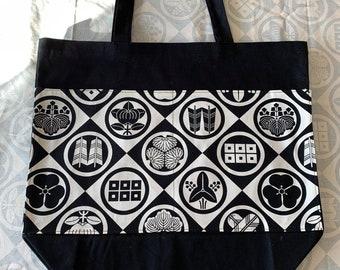 Japanese Ofuda Canvas Tote Bag