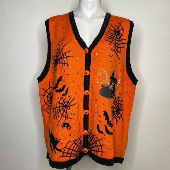 Vintage Tacky Ugly Halloween Sweater Vest