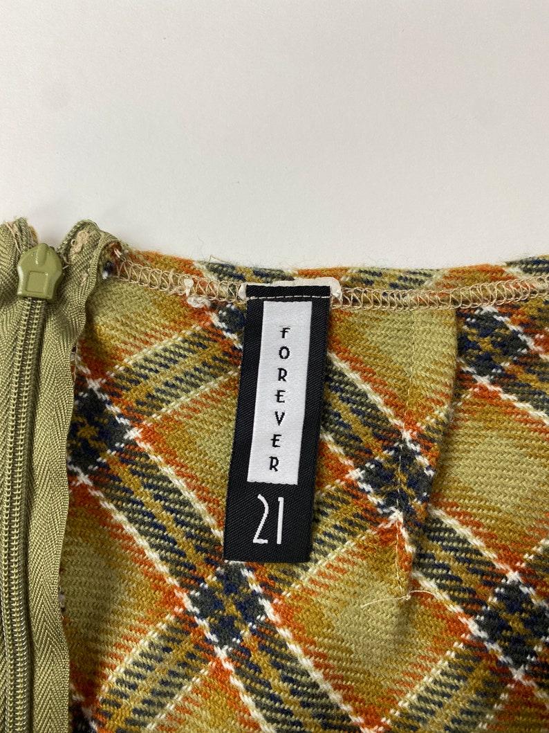 Vintage Plaid Midi Skirt by 90s Forever 21.