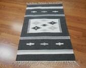 UNIQUE Super Fine ANATOLIA flat weave heriz kilim 2x3 RUG
