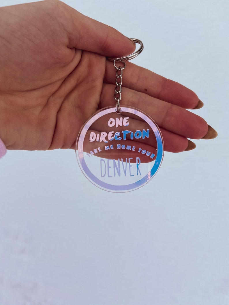 Customizable One Direction Tour Keychains