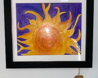 Framed Sun Painting