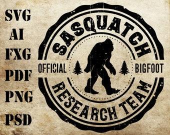 Bigfoot Svg Finding Sasquatch Research Team Men Women Kids Svg Png Cut Files Vinyl Clip Art Download