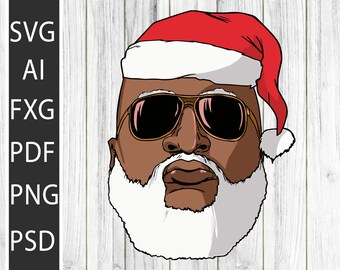 I Have A Thing For Guys With Beards African American Santa Sublimation Digital Instant Download