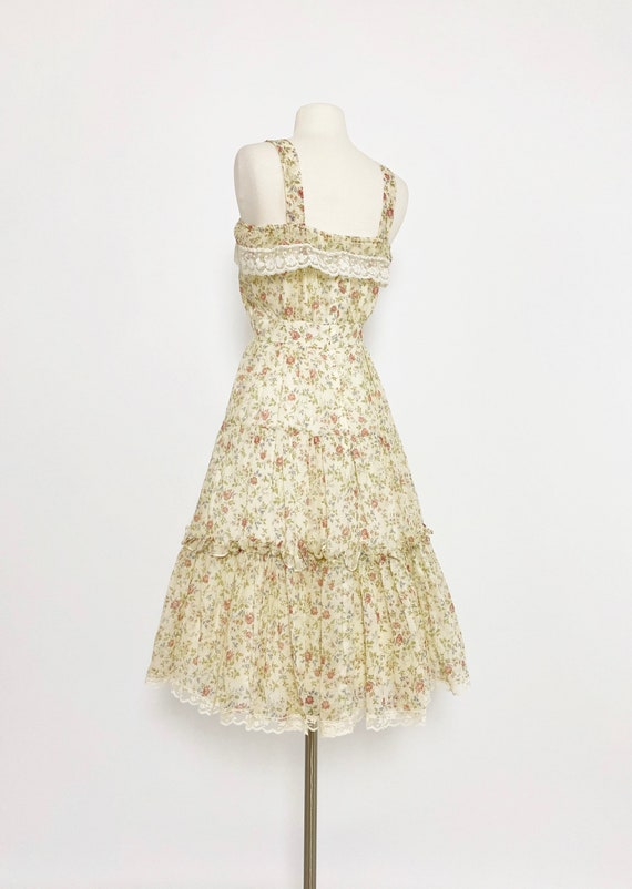 GUNNE SAX | 1970s Ruffle Floral Dress - image 6