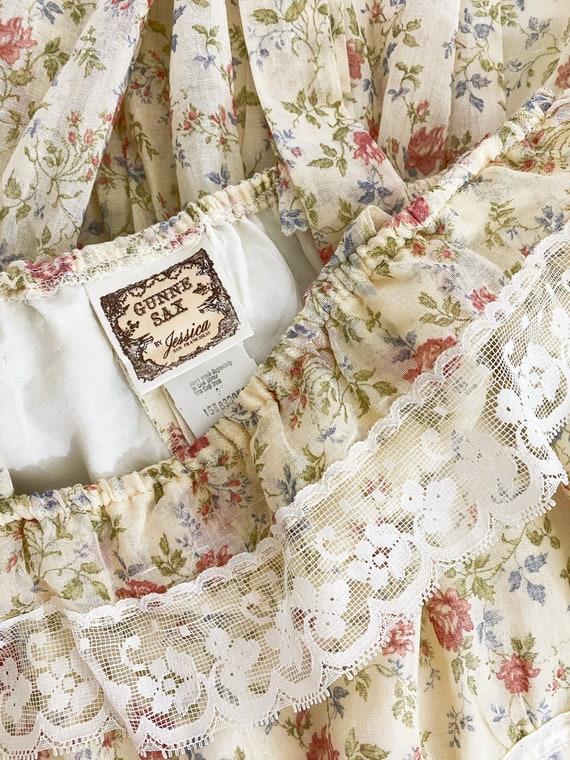 GUNNE SAX | 1970s Ruffle Floral Dress - image 10