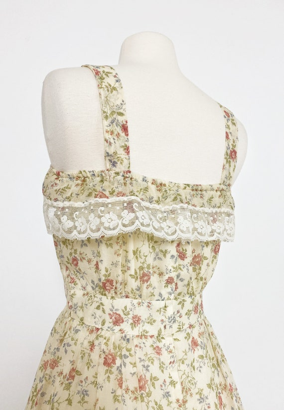 GUNNE SAX | 1970s Ruffle Floral Dress - image 5