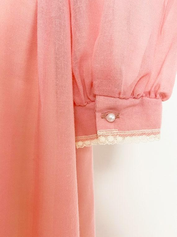GUNNE SAX | 1970s Embellished Lace-Up Maxi Dress - image 8