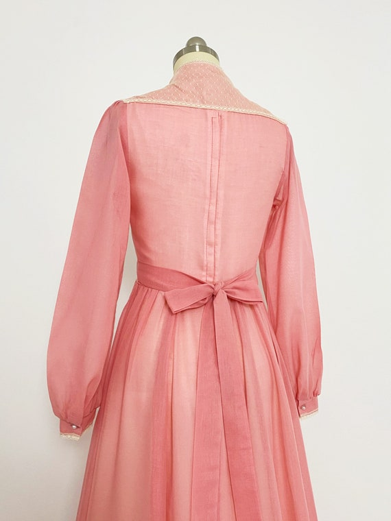 GUNNE SAX | 1970s Embellished Lace-Up Maxi Dress - image 6