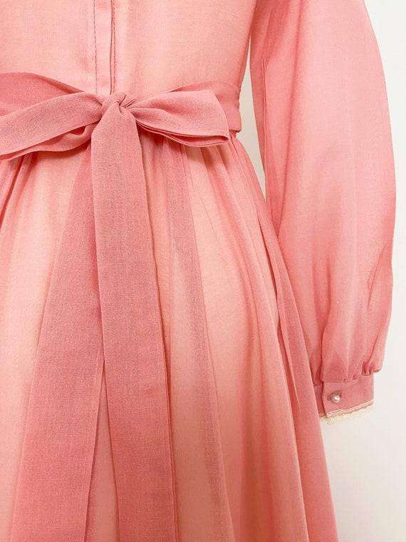 GUNNE SAX | 1970s Embellished Lace-Up Maxi Dress - image 7