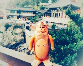 Monk SEALMON - art toy, designer toy, sofubi toy, soft vinyl toy, sofvi toy