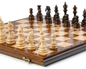 """CHESS - Large Classic Chess Set with Backgammon / 19.6"""" x 19.6"""""""