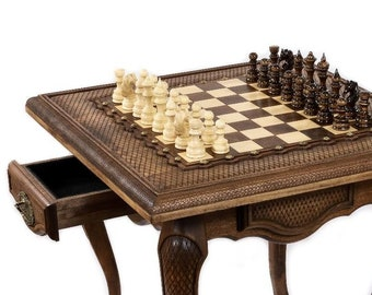 """CHESS TABLE - Square Classic / 24"""" x 24"""" x 24"""""""