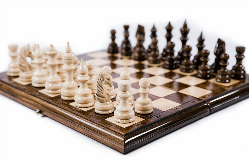 Chess Set with Backgammon / Classic / Fathers Day Gift image 0