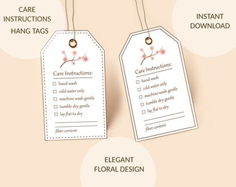 crochet market bags PDF Files Printable Market Bag Wraps with care detail card 2 styles and 2 sizes tags for packaging handmade