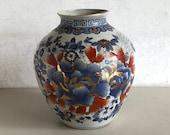 Beautiful Imari vase - China - porcelain - 6 character sign - handmade