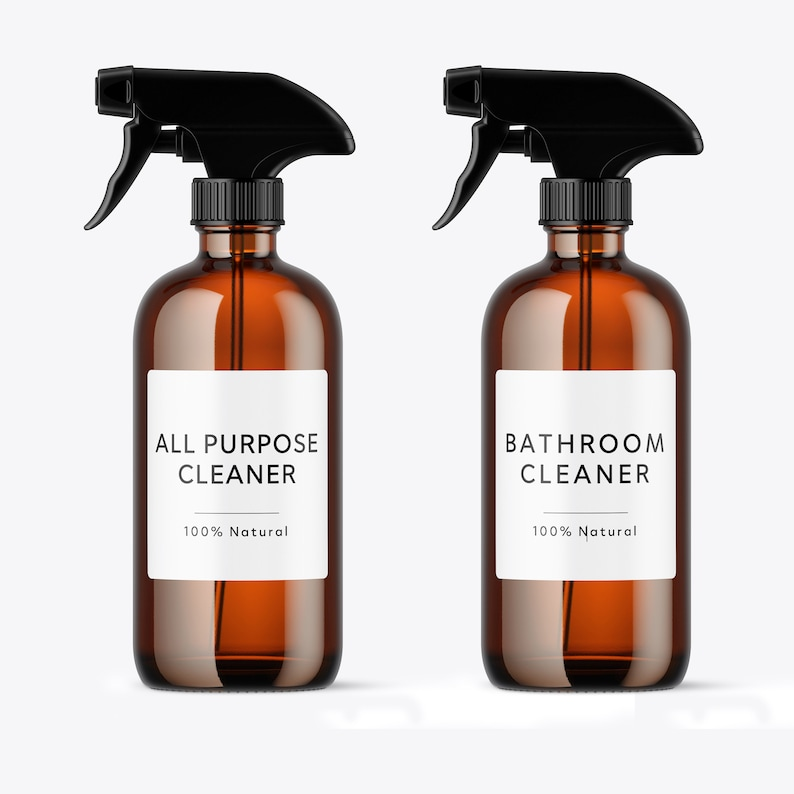 100/% Natural Label Waterproof Soap Proof and Oil Proof Custom Bathroom Labels and Hand Soap Labels Minimalist
