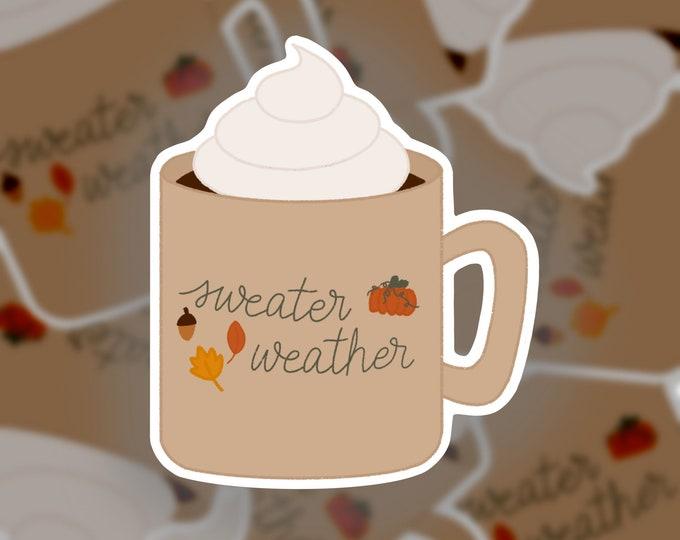 Sweater Weather Mug Sticker