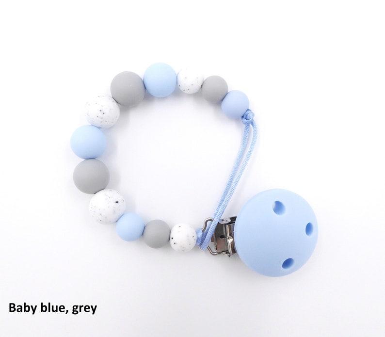 Schnullerkette Silicone Pacifier clip Dummy Chain Silicone Pacifier Clip Holder Binky Chain Schnullerkette Baby Geschenk