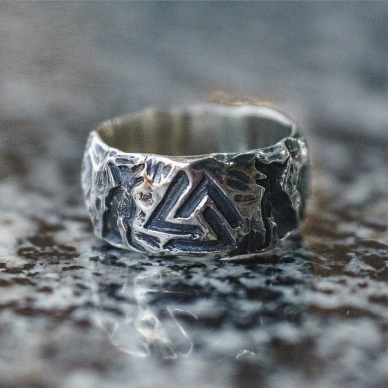 Wolves of Odin Valknut Forging Ring 316L Stainless Steel Never Fade Viking Amulet Rings Nordic Jewelry