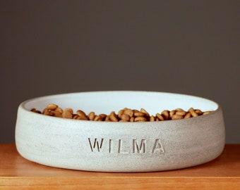 feeding dish. 3 sizes. dog bowl. cat bowl. customizable. fressnapf. individual. ceramics. concrete grey. gift.
