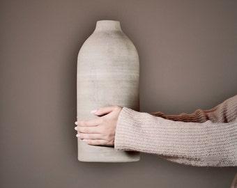 large vase. xxl. ceramics. 36.5 cm. floor vase. dried flowers. bottle vase. grey. gift. wedding.