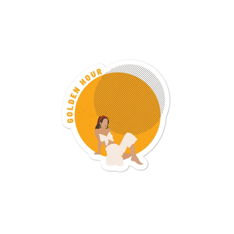 Woman Sticker Stickers For Planners Girl Sticker Journal Stickers Stickers svg Laptop Sticker Aesthetic Stickers Golden Hour Sticker