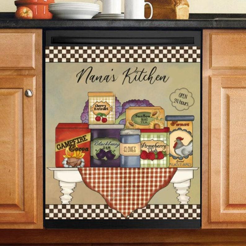 Gearhuman – Nana's Kitchen  Custom Name Vintage Style Dishwasher