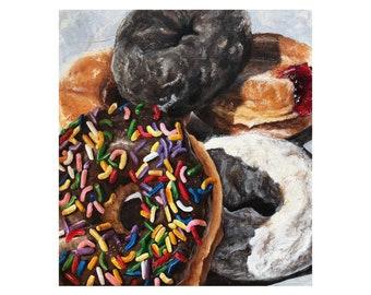 Donut Painting Art Print