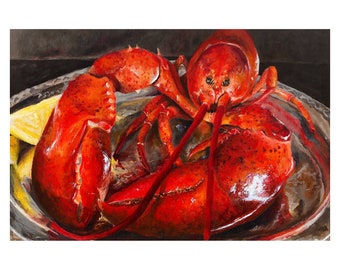Lobster Painting Art Print
