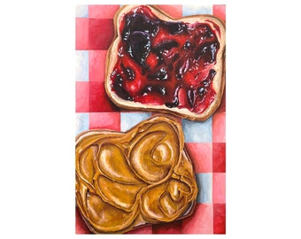 Peanut Butter and Jelly Painting Art Print