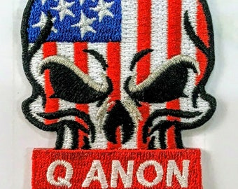 Q Army Wwg1wga Anon Qanon Iron On Embroidery Embroidered Etsy